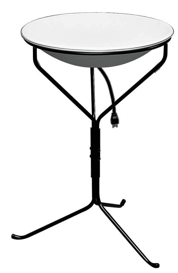 Allied Precision 970 Heated Bird Bath With Metal Stand