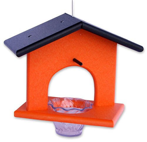 Amish-Made Poly-Wood Hanging Decorative Oriole Jelly Bird Feeder