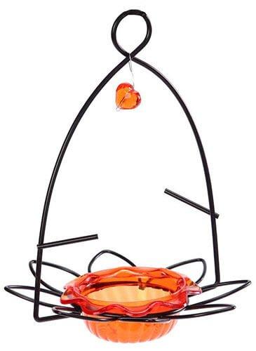 Birds Choice Flower Small Orange Oriole Bird Feeder